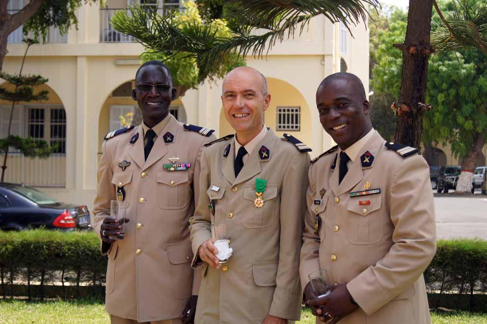 Entouré de mes camarades Mbaye et Philippe